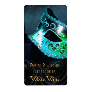 Etiqueta del boda del vino del trullo de la mascar etiquetas de envío