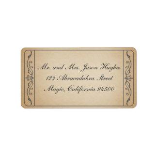 Etiqueta del boleto del vintage etiquetas de dirección