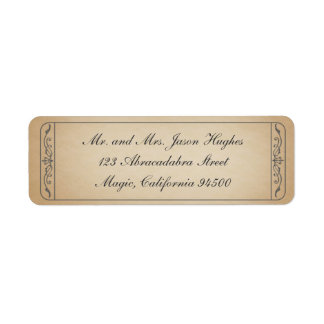 Etiqueta del boleto del vintage etiquetas de remite