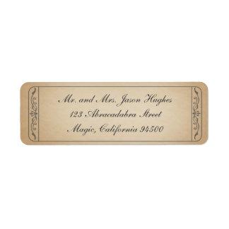 Etiqueta del boleto del vintage etiqueta de remitente