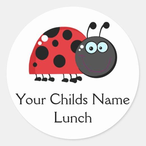 Etiqueta del bolso del almuerzo