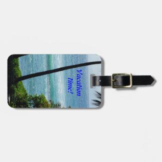 Etiqueta del bolso del tiempo de vacaciones etiquetas para maletas