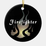 Etiqueta del bombero ornatos