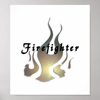 Etiqueta del bombero impresiones