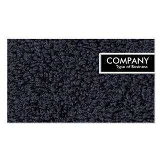 Etiqueta del borde - alfombra lanosa tarjetas de visita