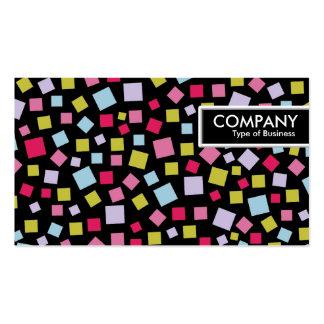 Etiqueta del borde - colores de conexión en cascad tarjeta de visita