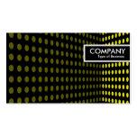 Etiqueta del borde - esquina del tono - amarillo plantillas de tarjetas de visita