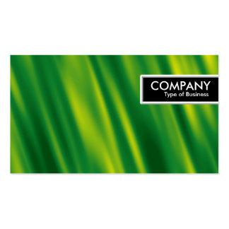 Etiqueta del borde - verde de conexión en cascada plantillas de tarjetas de visita