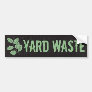 Etiqueta del bote de basura de la basura de los pegatina para auto