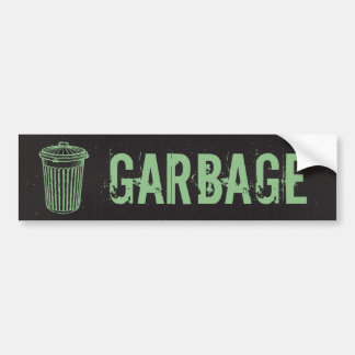 Etiqueta del bote de basura de la basura del Grung Pegatina Para Auto