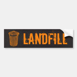 Etiqueta del bote de basura de la basura del verti pegatina para auto