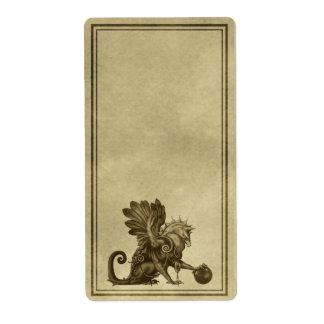 Etiqueta del boticario de Griffon Etiqueta De Envío
