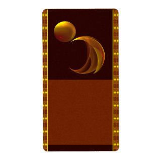 Etiqueta del boticario de la salida del sol etiquetas de envío