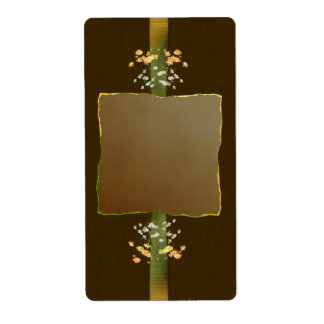 Etiqueta del boticario de los ramilletes de Brown Etiqueta De Envío