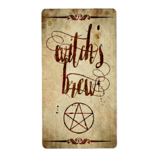 Etiqueta del Brew de la bruja de Halloween del Etiquetas De Envío