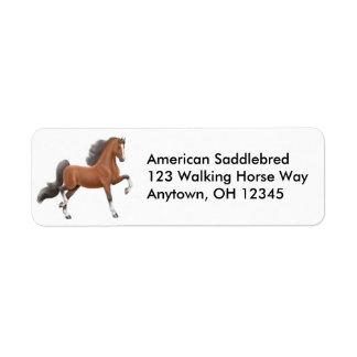 Etiqueta del caballo de Gaited de la bahía Etiquetas De Remite