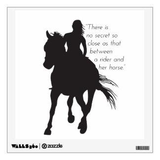 Etiqueta del caballo y de la pared del jinete