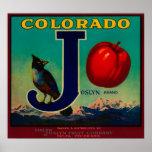 Etiqueta del cajón de Joslyn Apple Poster