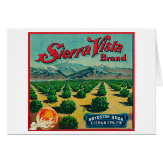 Etiqueta del cajón de la fruta cítrica de la marca tarjetas