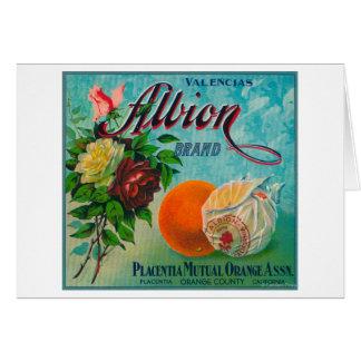 Etiqueta del cajón de la fruta cítrica de la marca felicitaciones