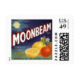 Etiqueta del cajón de la fruta cítrica del rayo de sello