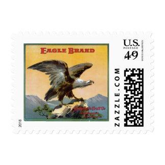 Etiqueta del cajón de la fruta de la marca de sellos postales