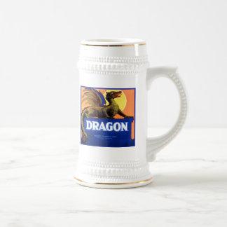 Etiqueta del cajón de la fruta de la marca del dra jarra de cerveza