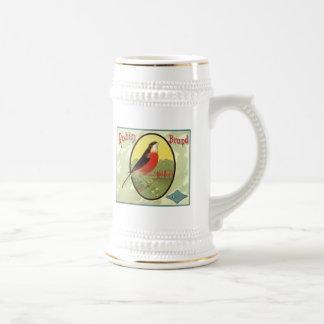 Etiqueta del cajón de la fruta de la marca del pet jarra de cerveza