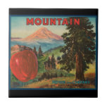 Etiqueta del cajón de la fruta de las manzanas de  teja cerámica