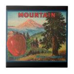 Etiqueta del cajón de la fruta de las manzanas de azulejo cuadrado pequeño