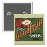 Etiqueta del cajón de la fruta de las manzanas de  pins