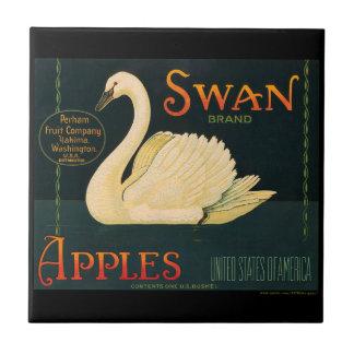 Etiqueta del cajón de la fruta de las manzanas del azulejo