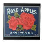 Etiqueta del cajón de la fruta de las pomarrosas d azulejos ceramicos