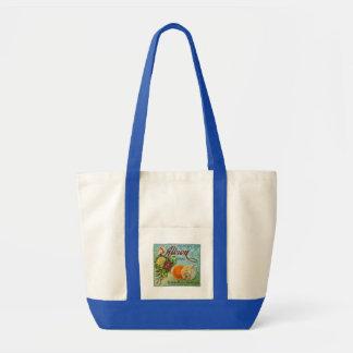Etiqueta del cajón de la fruta de los naranjas de  bolsa de mano