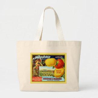 Etiqueta del cajón de la fruta del vintage bolsa