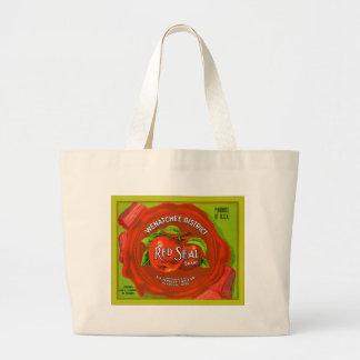Etiqueta del cajón de la fruta del vintage bolsa de mano