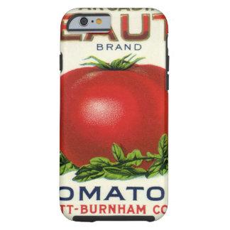 Etiqueta del cajón de la fruta del vintage, funda resistente iPhone 6