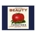 Etiqueta del cajón de la fruta del vintage, postal