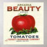 Etiqueta del cajón de la fruta del vintage, póster