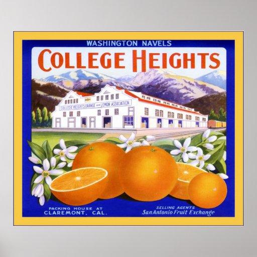 Etiqueta del cajón de la fruta del vintage poster
