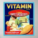 Etiqueta del cajón de la fruta del vintage posters