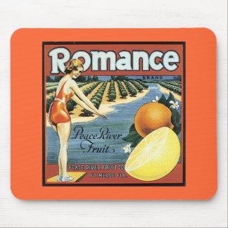 Etiqueta del cajón de la fruta del vintage alfombrillas de raton