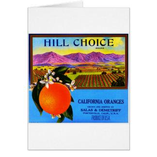 Etiqueta del cajón de la fruta del vintage felicitacion