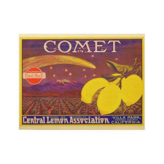 Etiqueta del cajón del limón de la marca del póster de madera