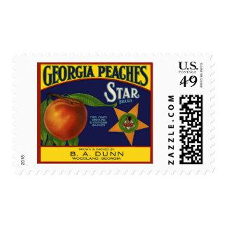 Etiqueta del cajón del melocotón de la marca de la sello