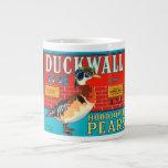 Etiqueta del cajón del vintage de las peras de Duc Taza Extra Grande