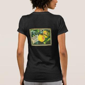 Etiqueta del cajón del vintage de los albaricoques camisetas