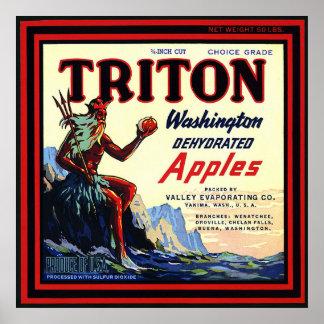 Etiqueta del cajón del vintage - poster de las man