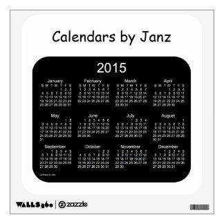Etiqueta del calendario de pared 2015 - pequeña