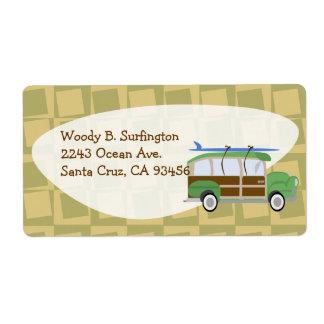 Etiqueta del carro de Woodie Etiqueta De Envío